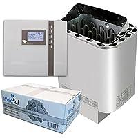 Well Solutions Saunaofen Edelstahl Next 9 kW / Externe Sauna Steuerung Premium D2 mit Zeitvorwahl / Original Marke Well Solutions®