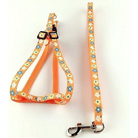 EQLEF® 1pcs step-in cablaggi per i cani di animale domestico registrabile di nylon del cablaggio del cane arancione