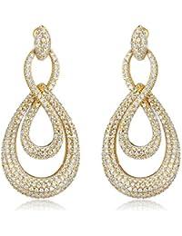 SHAZE Gold Toned Curled  Earrings for Women Earrings for Girls