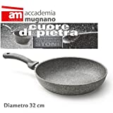 Sartén 32 cm de piedra - antiadherente - Accademia Mugnano Linea CUORE DI PIETRA