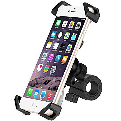 IceFox Fahrrad Handyhalterung, Universal Anti-Shake Handyhalterung Fahrrad,  Smartphone Fahrradhalterung Mit 360 Drehen für 3,5-6,5 Zoll Smartphone,GPS,Andere Geräte