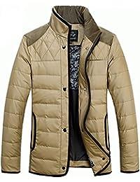 Queenshiny Short stand collar Men's Down Coat Jacket/Thicken waterproof keeping warm