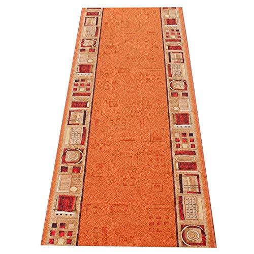 Tapiso agadir tappeto passatoia al metro corridoio cucina da ingresso ufficio arancio traffico antiscivolo a pelo corto 120 x 40 cm