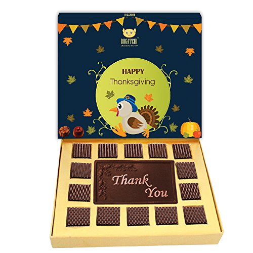 BOGATCHI PERSONALIZED THANK YOU CHOCOLATE BOX, 15% DARK CHOCOLATE WITH BUTTER SCOTCH AND CRISPY , 250G