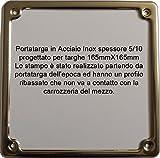 Portatarga Cornice Targa ACCIAIO INOX Per Moto fino al 1985