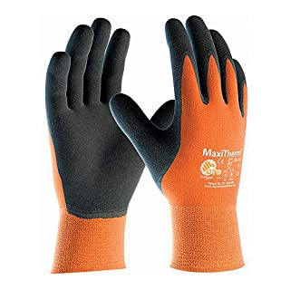 30-201 MaxiTherm Palm Coated Orange/Black Cold Resistant Gloves - Size 9