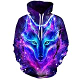 3DWY Space Galaxy Wolf Hoodie Hoodies Männer Frauen 2018 Frühjahr Herbst Pullover Sweatshirts Sweat Homme 3D Trainingsanzug, L