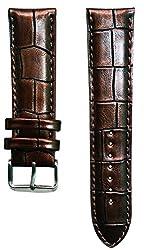 Jyotirs Croco Padded 22 mm Leather Watch Strap jy-strap-004