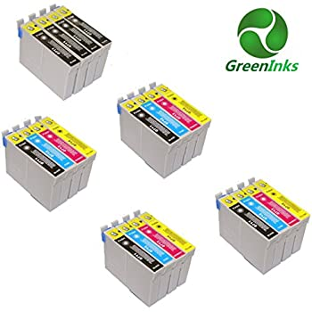 20 inks, Compatible Printer Inks Cartridges to replace Epson T0711 T0712 T0713 T0714 (T0715) - Cyan, Magenta, Yellow, Black), 4 Full Multipack of T0715 + 4 extra black (8xT0711 4xT0712 4xT0713 4xT0714), for Epson Printer Stylus D78/D92/D120/DX4000/DX4050/DX4400 DX4450/DX5000/DX5050/DX6000/DX6050/DX7000F DX7400/DX7450/DX8400/DX8450/DX9400F/S20/S21 SX100/SX110/SX105/SX115/SX200/SX205/SX209/SX210 SX215/SX218/SX400/SX405/SX405WiFi/SX410/SX415/SX510W/ SX515W/SX600FW/BX600FW/BX610FW Office B40W/BX300F/BX310FN