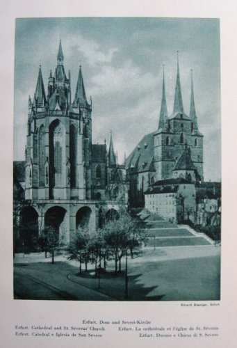 Erfurt, Dom und Severi Kirche / Weimar, Goethes Gartenhaus - historischer Fotodruck /...