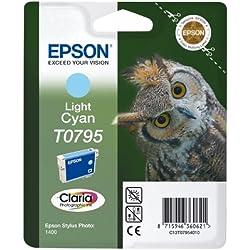 Epson C13T079540A0 Cartouche d'encre pour Stylus Photo 1400 Cyan clair Amazon Dash Replenishment est prêt