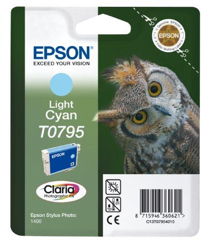 Epson Eule T0795 Tintenpatrone Singlepack, Light Cyan
