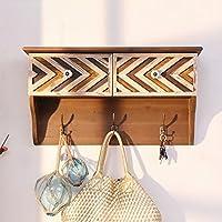 LWJJYMJ Coat Hooks Coat hook European style Solid wood Coat rack Shelf Wall hook Shelf Partition coat Decorative frame