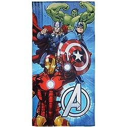CTI 044252-Toalla de Playa Avengers Metal algodón Azul 360g/m² 150x 75cm