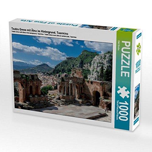 Teatro Greco mit Ätna im Hintergrund, Taormina 1000 Teile Puzzle quer (CALVENDO Natur)