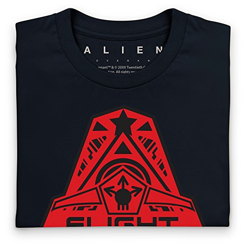 Official Alien: Covenant Crew Flight Logo T-Shirt, Herren Schwarz