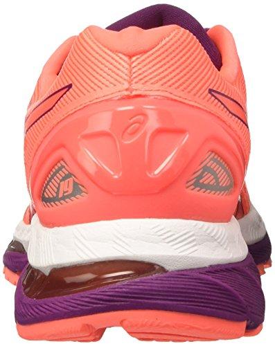Asics Gel-Nimbus 19, Scarpe Sportive Outdoor Donna Viola (Flash Coral/dark Purple/white)