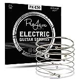 ProJam E-Gitarrensaiten - Premium Stahl-Nickel - E Gitarren Saiten Set - E Gitarre Saite - 6 Saiten