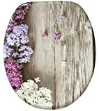 Soft Close Toilet Seat | Stable Hinges | Easy to mount | High-quality surface | Lilac