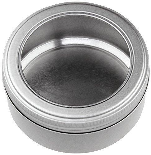 Sichtdeckeldose rund, Aufbewahrungsdose, Dose, Blechdose, D83 H38 - kein Aluminium