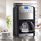 BEEM Kaffeeautomat Fresh-Aroma-Perfect Kaffeemaschine mit Mahlwerk, Permanent-Goldfilter, Timer, 92C° Brühtemperatur, 1000W, Edelstahl (Mit Glaskanne)