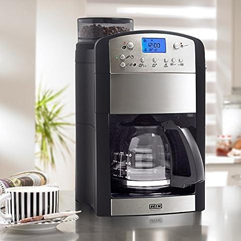 BEEM Kaffeeautomat Fresh-Aroma-Perfect Thermostar [Version 2017, 92C Brühtemperatur] Mit integriertem Mahlwerk und permanent Goldfilter