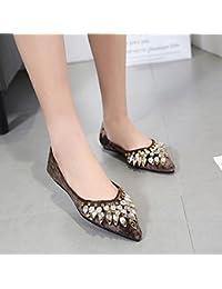 Sugerencia solo zapatos femeninos de perforación de agua hadas hijos zapatos suaves de fondo plano inferior zapatos...