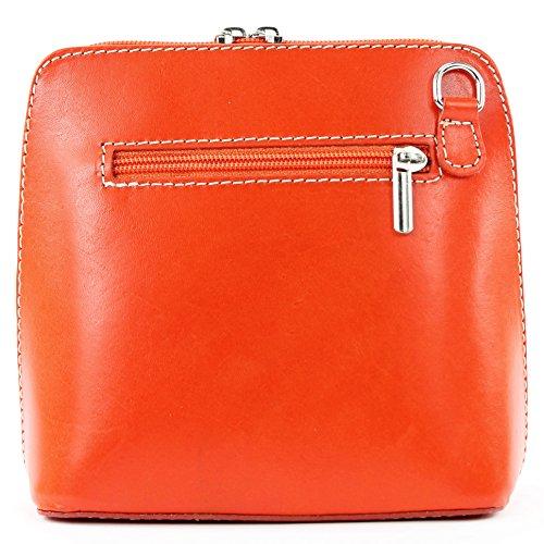 Città piccole de in bovina borsa tracolla T94 Orange signore modamoda pelle ital bag borsa qXpvvwB