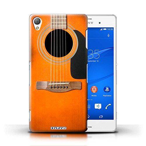 Kobalt® Imprimé Etui / Coque pour Sony Xperia Z3 / Acoustique en Bois conception / Série Guitare Sunburst Acoustique