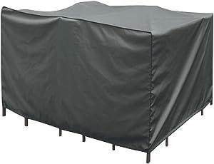 greemotion Abdeckung für Loungemöbel - Abdeckhaube Gartenmöbel Grau - Schutzhülle Lounge Set - Wetterschutz-Hülle mit Zugband - Abdeckplane Möbelset - verschiedene Größen