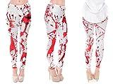 Alsino Leggings Damen Bedruckt Sexy Leggins Ladies mit Print Look Motiv Muster Stretch Legins Hose, wählen:LEG-052 Blut