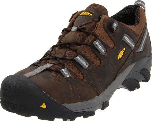 Keen Utility Men's Detroit Low ESD Steel Toe Work Boot,Dark Brown,9 EE US Low Steel Toe Boot