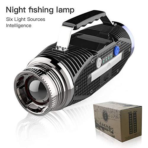 YYBT 150W Super-High-Power-LED-Suchscheinwerfer, 12000MAH mit USB-wiederaufladbarer Camping-Licht tragbare Taschenlampe, geeignet für Outdoor-Abenteuer-Wandern -