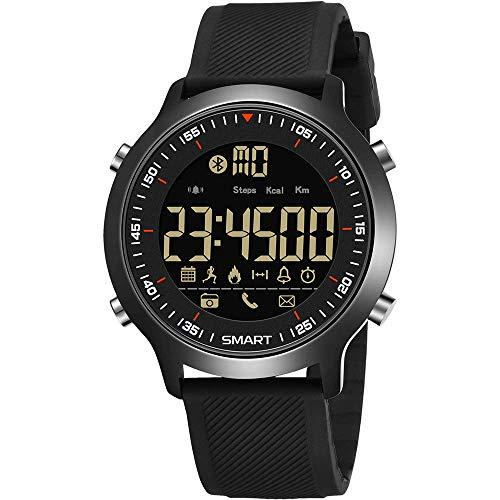 Novopus:Herren Bergsteigen Smartwatch, Foto/Bluetooth/Energieaufzeichnung/Informationserinnerung/Schritt, elektronische Uhr, schwarz