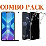 ADRY 5D Tempered Glass & Transparent Back Cover_Combo Pack_ Premium Quality Screen Guard And Soft Case Cover For Huawei Honor 8X
