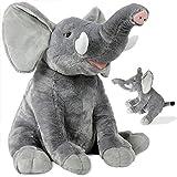 Kuscheltier Elefant Plüschtier Plüschelefant Stofftier Plüsch flauschig ✔ grau ✔ extra weich ✔ XL 90 cm ✔ hochwertige Verarbeitung