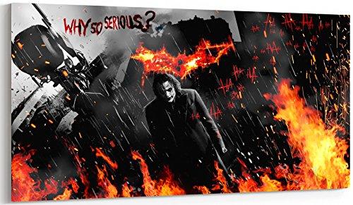 Batman Joker Heath Ledger Film Zitate Panorama Leinwandbild XXL Bild Zwei Größen zu wählen–fertig zum Aufhängen tolle Qualität, canvas, 61 x 140 cm
