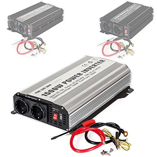 TecTake Spannungswandler Wechselrichter Inverter 12 V auf 230 V - diverse Modelle - (Typ 3 (400978))