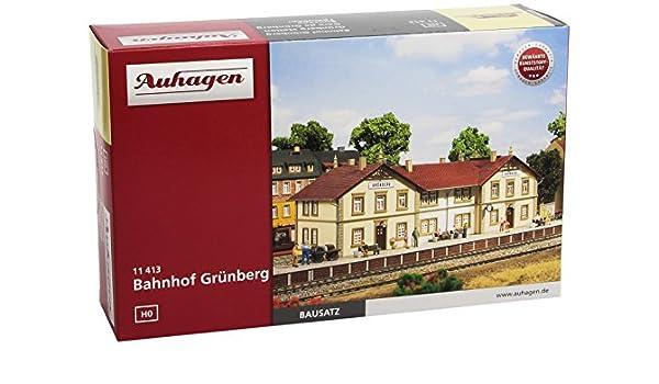 Bahnhof Grünberg mit Bahnsteig Auhagen H0 11413