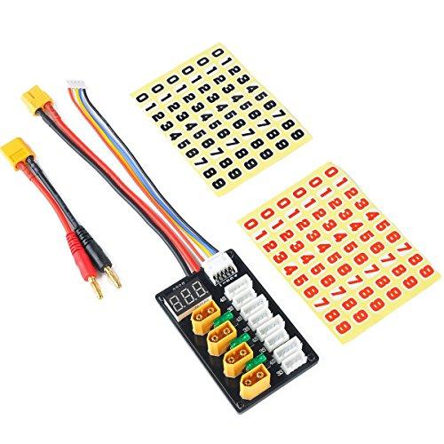 XT60 Parallel Ladekabel für 3S 4S LiPo Batterien XT60 Stecker mit XT60 zu Banana Anschlusskabel (Lipo-akku-ladestation)