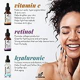 Optimiertes Retinol Serum 2,5% mit 20% Vitamin C & Hyaluron Säure 29 ml, Bestes Anti-Falten & Anti-Aging Serum fürs Gesicht selbst für Sensible Haut | Klinische Stärke | Ideal gegen Augenringe - 6