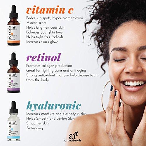 ArtNaturals Retinol Serum mit Vitamin C und Hyaluronsäure – Naturrein – 30 ml - 6
