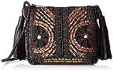 Antik Batik Damen Zitha Pouch Umhängetasche, Schwarz (Black), 5x17x21 cm