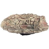 Acuami cuenco de baño de terrario - Recipiente de agua para bañarse y beber para reptiles y anfibios - Deco en apariencia de piedra - XL