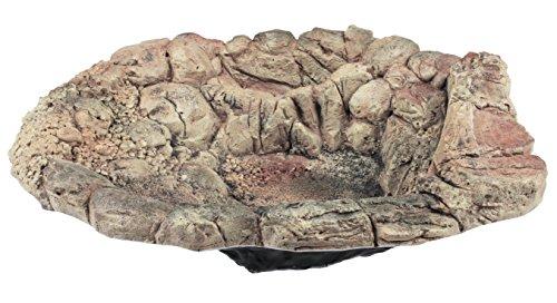 Acuami Terrarium Badeschale – Wassernapf zum Baden und Trinken für Reptilien und Amphibien – Terraristik-Zubehör – Deko in Stein-Optik (XL)