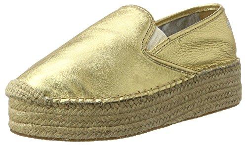 Marc O'Polo Damen 70313833801110 Espadrilles, Gold, 39 EU