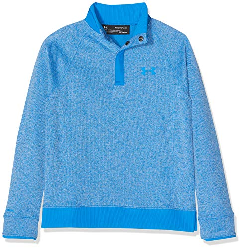 Under Armour Jungen Sturm SF 1/2 Snap Oberteil, Blue Circuit, YLG