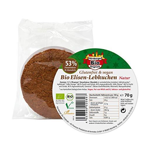 Bio Elisen Lebkuchen natur - 70 g im Beutel 1 Stk. glutenfrei & vegan