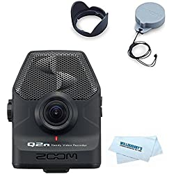Zoom Q2n Zoom Handy Video Recorder + Zoom LHQ-2n Lens Hood and Cover Accessory Pack for Zoom Q2n + Willoughbys Cleaning Cloth
