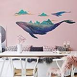 Wandaufkleber Wal Wandaufkleber Meer Tier Aufkleber Moderne Home Wohnzimmer Schlafzimmer Wandbild Kunst Dekoration Aquarell